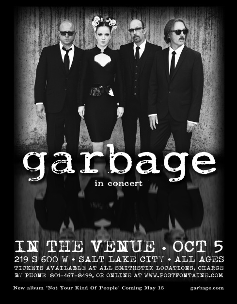 RESCHEDULED: GARBAGE -- In the Venue 10.5.2012