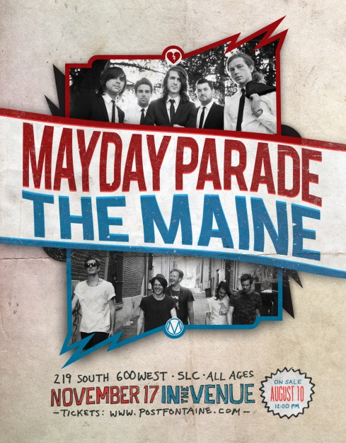 MAYDAY PARADE & THE MAINE --- In The Venue 11.17.2012