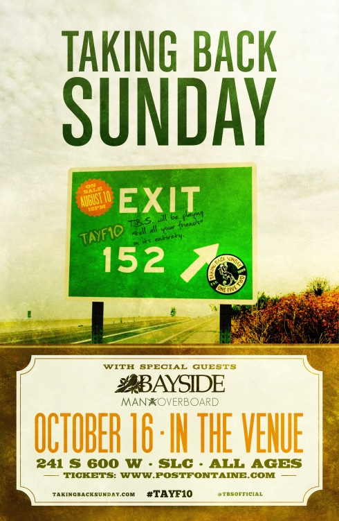 TAKING BACK SUNDAY --- In The Venue 10.16.2012
